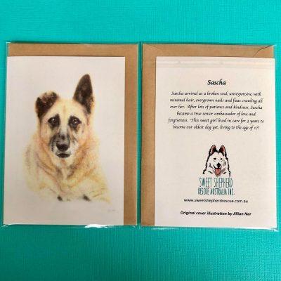 SSRA Illustrated Greeting Card - SASCHA