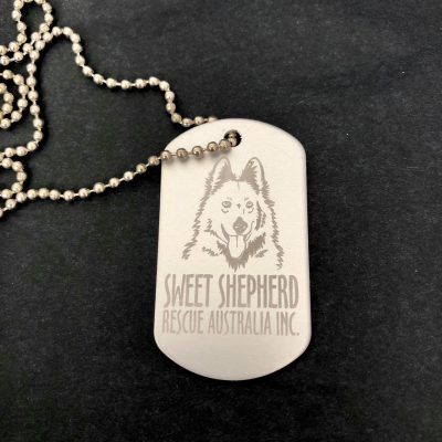 Sweet Shepherd Dog Tag Necklace