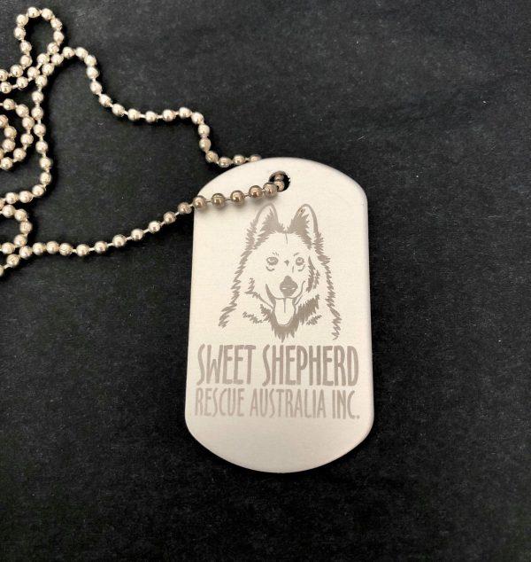 Sweet Shepherd Dog Tag Necklace