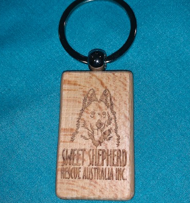Engraved Wood Keyring (Block)