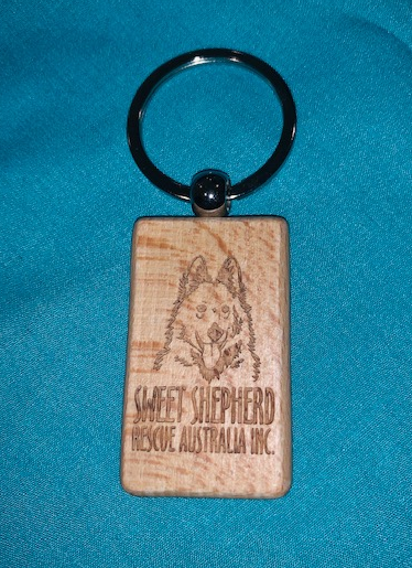 Engraved Wood Keyring (Block)