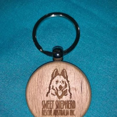 Engraved Wood Keyring (Round)