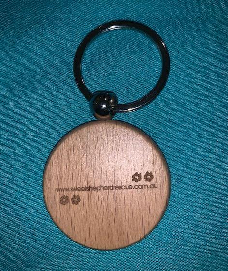 Engraved Wood Keyring (Round)