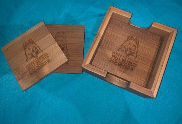 Sweet Shepherd Engraved Coasters (Set of 4)